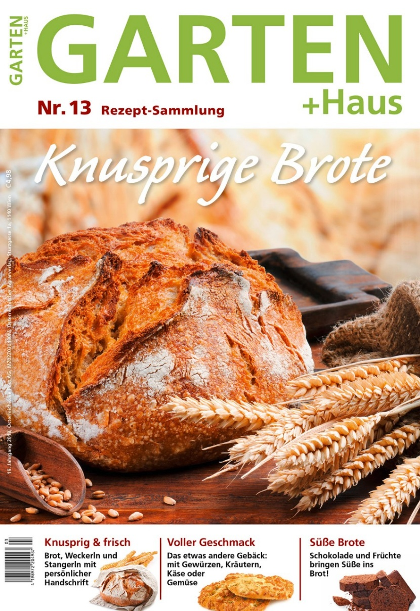 GARTEN+HAUS Rezeptsammlung: Knusprige Brote